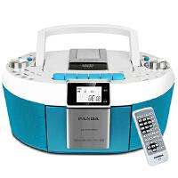 熊猫(PANDA) CD-820 数码DVD复读播放机CD胎教机磁带录音机收音收录机MP3播放器音响(蓝色)