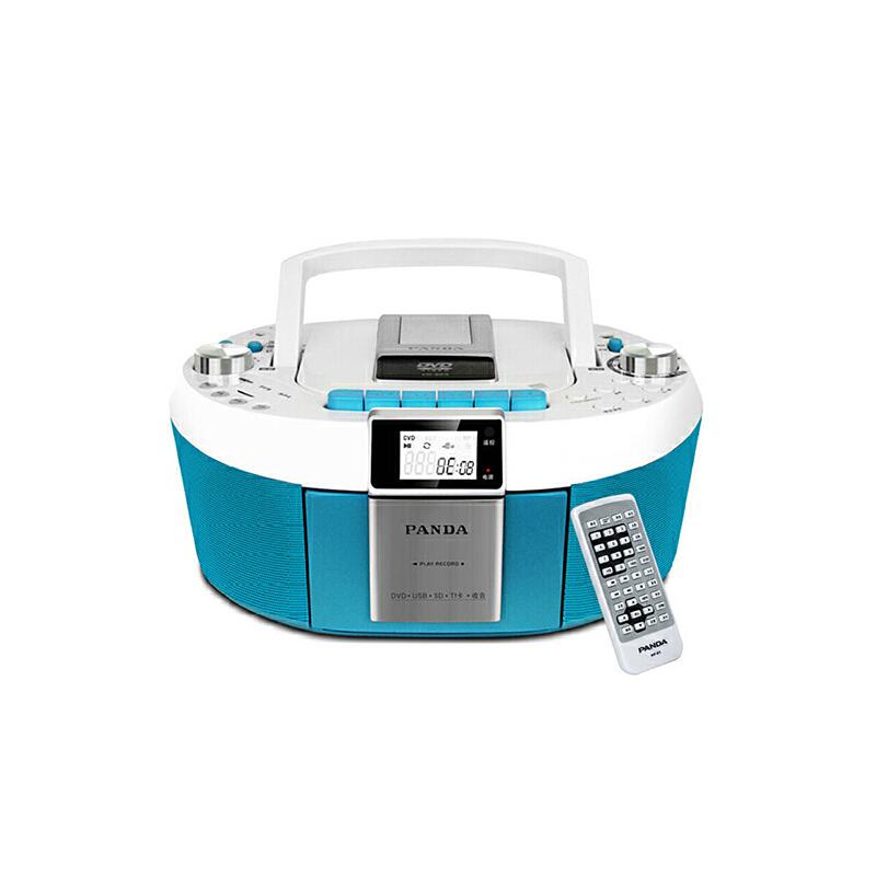 熊猫(PANDA) CD-820 数码DVD复读播放机CD胎教机磁带录音机收音收录机MP3播放器音响(蓝色) 超小时尚外观 全能复读播放 学霸需备