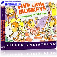【78选3】五只小猴英文原版绘本 Five Little Monkeys Jumping on the Bed 五只小猴
