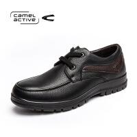 Camel Active/骆驼动感秋季日常休闲鞋头层系带男鞋皮鞋父亲鞋子