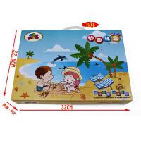 砂画绘画DIY手工玩具环保沙子儿童沙画24瓶彩沙50张画礼盒套装
