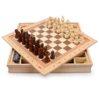 木制益智大号国际象棋儿童早教桌面棋类游戏智力棋