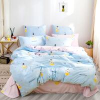 多喜爱新品四件套ins水洗柔软舒适套件少女床上用品被套甜心菠萝