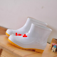 男女中短筒低帮食品卫生靴白色雨鞋防滑厨师套鞋水鞋水靴耐酸碱油