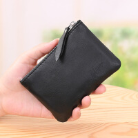 男士钱包短款零钱袋银行卡套小钱袋头层羊皮卡包有隔层男士钱包 通用 无LG