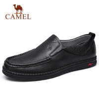 camel 骆驼男鞋2018春季新品轻便驾车鞋男真皮商务休闲皮鞋爸爸鞋