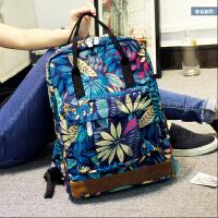 新款印花双肩包女韩版潮休闲旅行背包手提包中学生学院风书包