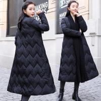 chic女2018冬季新款时尚韩版羽绒棉衣宽松加厚中长款斗篷外套
