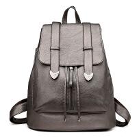 中老年人双肩包女包包时尚休闲旅行羊皮大容量女士背包妈妈包