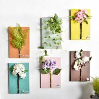 立体仿真花艺植物墙上装饰品美式创意家居客厅墙面假花壁饰壁挂件