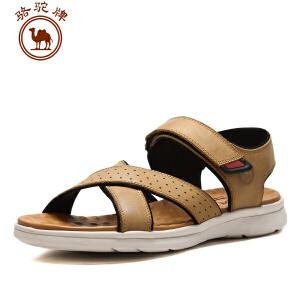 骆驼牌男鞋 夏季新款 凉鞋魔术贴休闲鞋露趾透气沙滩鞋耐磨