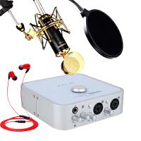 艾肯(iCON)4NANO VST外置声卡电脑K歌录音主播直播设备USB电音声卡套装 声卡+K820套装