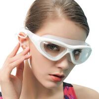 儿童游泳眼镜装备近视泳镜高清男女士平光大框游泳镜