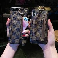 带零钱包一体苹果六七手机壳高端女款男网红同款简约iphone6/7/8x splus全包边潮牌个