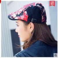 鸭舌帽子女贝雷帽子春夏韩版潮百搭女夏天户外时尚贝雷帽