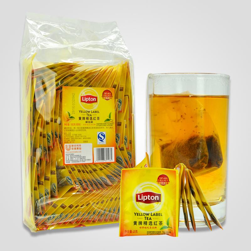 Lipton/立顿红茶包 黄牌精选红茶160g(纸包装) 袋泡茶2gX80袋 【官方授权】正品保障 日期新鲜
