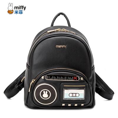 米菲2017春夏新品背包 韩版时尚双肩包 收音机女士包包潮