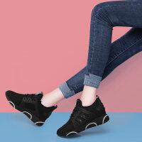 运动鞋女鞋2019新款春季韩版百搭黑色休闲网红春款内增高跑步