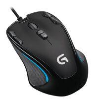 【支持当当礼卡】罗技G300s有线鼠标 游戏鼠标 9个可编程G键 吃鸡鼠标 绝地求生