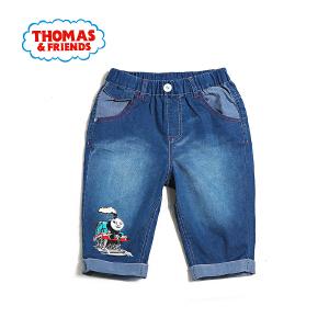 【满100减50】托马斯童装正版授权男童夏装中小童轻薄棉质牛仔短裤五分裤舒适透气