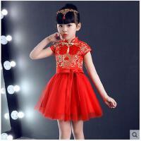 儿童旗袍新款女童唐装小孩旗袍中国风连衣裙宝宝六一演出服儿童服装支持礼品卡支付