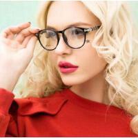 防辐射眼镜框男士配近视光学眼镜   复古潮大脸女全框黑个性框架  支持礼品卡