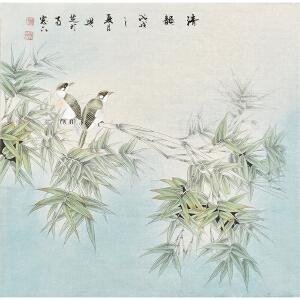 当代工笔画家 孙兴芝《清韵图》HN9173