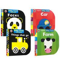 Baby Touch 4本 圆 进口英文原版触摸书 0-2岁幼儿英语低幼启蒙认知读物 宝宝撕不烂纸板书