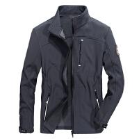 战地吉普AFSJEEP秋冬新品立领弹力加绒加厚保暖夹克外套 6852茄克衫男士