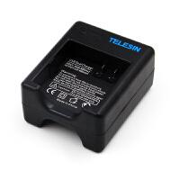 适用小蚁4K+电池小蚁2/二代运动相机电池充电器 双电双冲套装配件