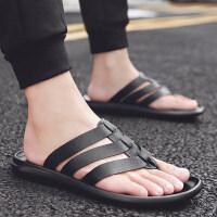 拖鞋男夏天潮流外穿男鞋人字拖男士韩版个性皮凉拖凉鞋托鞋夹拖