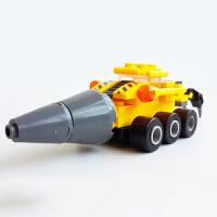 【5折包邮 限时抢购】开智 积木 塑料拼装拼插城市工程车挖土挖掘机建筑男孩礼物6岁以上亲子互动拼搭游戏儿童玩具用品