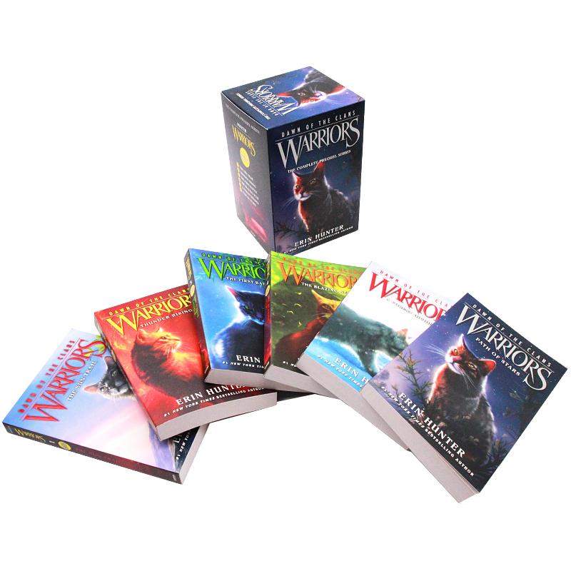 英文原版小说读物 猫武士五部曲 族群黎明套装 第五部 1-6 章节小说 Warriors: Dawn of the Clans Box Set: Volumes 1 to 6
