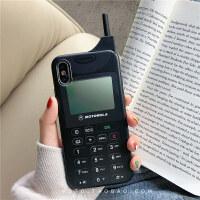 个性大哥大苹果x手机壳xs max/xr软硅胶套iphone6s/7/8plus防摔潮 I6/6S IMD 摩托罗拉大