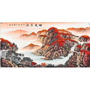 当代实力派画家赵弘四尺整张山水画 gs01059
