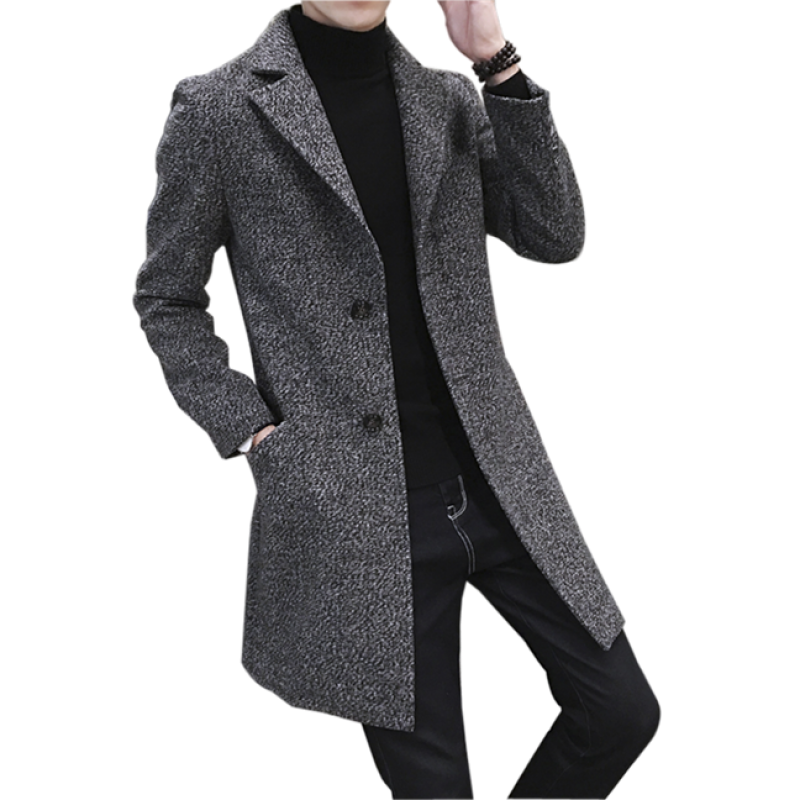冬季男士羊绒大衣中长款2018新款潮青年韩版修身加厚帅气呢子外套 发货周期:一般在付款后2-90天左右发货,具体发货时间请以与客服协商的时间为准