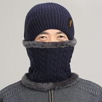 帽子男士冬季中老年毛线帽子男冬季爸爸帽保暖老人护耳帽