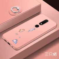诺基亚x6手机壳 nokiax6保护套 诺基亚X6 手机保护壳 全包防摔软硅胶个性创意磨砂潮牌彩绘软保护套
