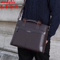 茉蒂菲莉 公文包 男士新款时尚横款商务手提包满额减男式休闲斜挎单肩包