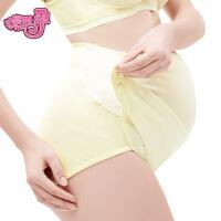 享受孕孕妇内裤魔术贴高腰托腹内裤可调节孕妇裤大码纯棉三角裤女