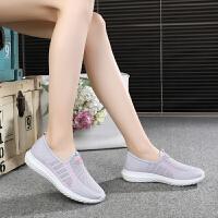 老北京布鞋女夏季中老年人妈妈健步鞋透气软底一脚蹬网面老人鞋