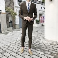 小西装套装男青年职业商务正装男士修身礼服韩版英伦风西服外套