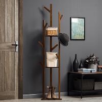 淘之良品简易衣帽架实木卧室落地挂衣架柜子衣服包置物家用简约现代