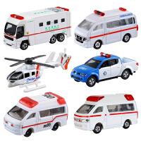 仿真合金车模男儿童玩具救护车救援车本田三菱尼桑小汽车