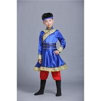 少数民族服装儿童男女蒙古袍藏族舞蹈演出服蒙族男童名族男孩新款2018新品