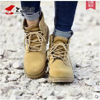 Z.Suo/走索女鞋秋冬季新款马丁靴情侣休闲鞋潮流沙漠靴军靴短靴