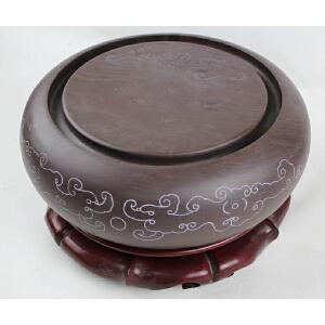 梁庆昌作品 宋坑《古龙大鼓》砚 品相出色 实用珍藏