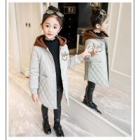 女童棉衣冬季中长款外套儿童女孩洋气冬装潮