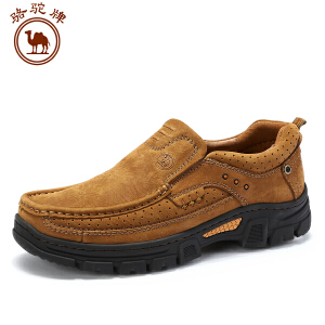 骆驼牌 秋季磨砂牛皮鞋男鞋 大休闲优质牛皮工装舒适耐磨