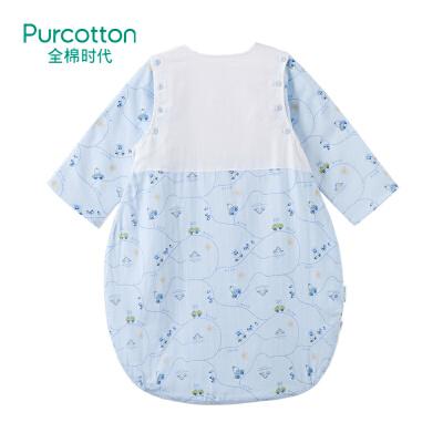 全棉时代 婴儿纱布侧开睡袋(小熊呦呦车)1件装